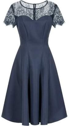Dorothy Perkins Womens *Chi Chi London Navy Lace Midi Skater Dress