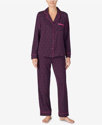 DKNY Super-Soft Printed Notch Collar Pajama Set