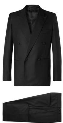 The Row Black Mark Slim-Fit Silk Grosgrain-Trimmed Escorial Wool Tuxedo