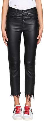Amiri Cropped Leather Pants