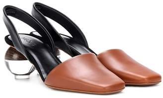 Neous Sphere heel leather slingback pumps