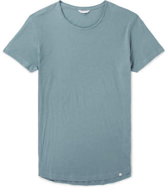 Orlebar Brown OB-T Slim-Fit Cotton-Jersey T-Shirt - Light blue