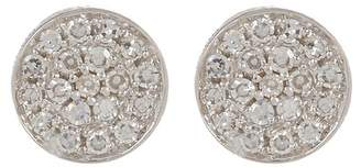 Ron Hami 14K White Gold Micro Diamond Pave Circular Stud Earrings - 0.07 ctw