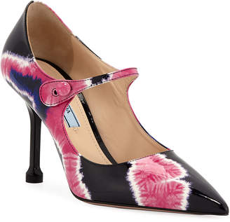 Prada Vernice Tie-Dye Mary Jane Pumps