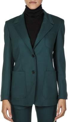 Dondup Green Wool Blend Blazer