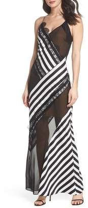 Harlyn Illusion Stripe Gown