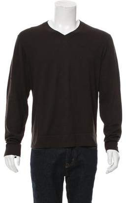 Theory Woven V-Neck Sweater