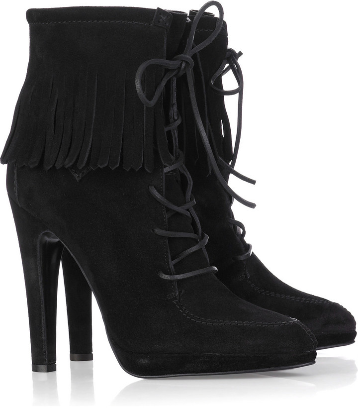 Balmain Fringed leather boots