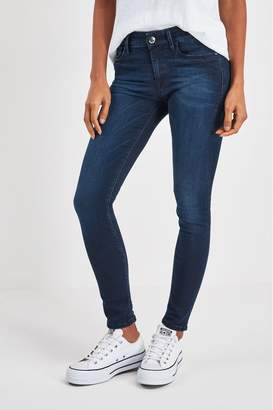 Replay Womens Luz High Waist Skinny Fit Jean - Blue