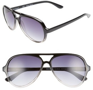 Women's A.j. Morgan Regiment 57Mm Gradient Lens Aviator Sunglasses - Black/ Crystal $24 thestylecure.com