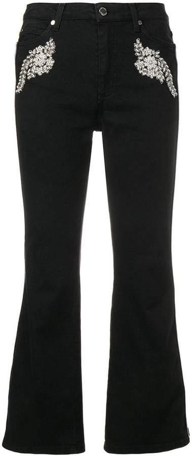 Ermanno Ermanno embellished flared jeans