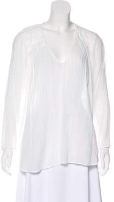 Current/Elliott Ruched Long Sleeve Top