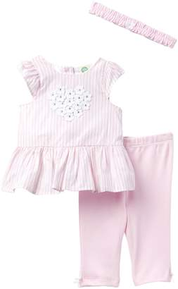 Little Me Floral Heart Tunic Set (Baby Girls)