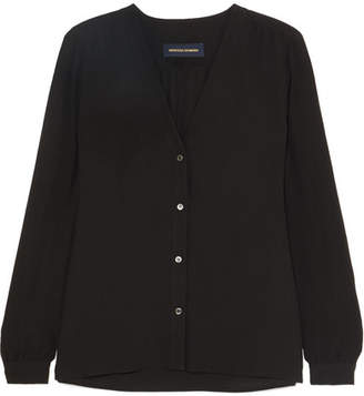 Vanessa Seward Ernest Silk Crepe De Chine Shirt - Black