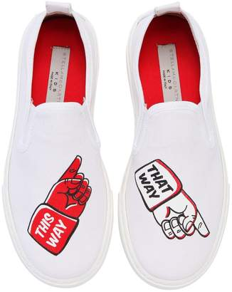 Stella McCartney This Way That Way Canvas Slip-On Sneaker