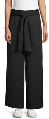 Max Studio Tie-Front Wide-Leg Pants