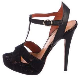 Missoni Lace Platform Sandals Black Lace Platform Sandals