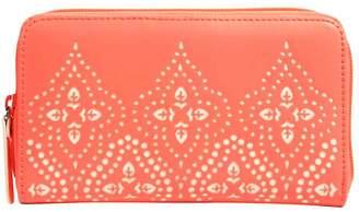 Vera Bradley Coral Laser-Cut Wallet