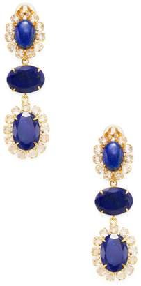 Bounkit Women's Convertible Lapis Drop Earrings