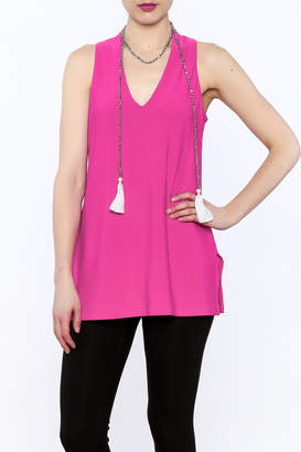 Joseph Ribkoff Hot Pink Sleeveless Tunic