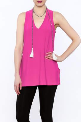 Joseph Ribkoff Hot Pink Sleeveless Tunic