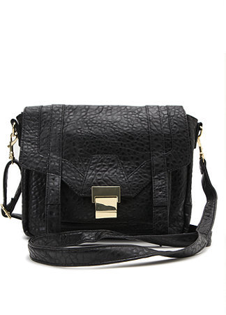 With Love From CA Textured Crossbody Satchel Bag