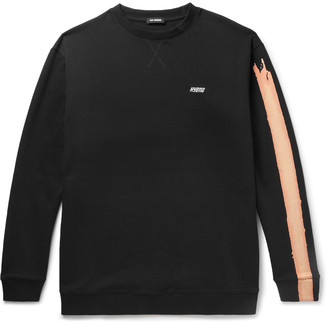 Raf Simons Oversized Printed Loopback Cotton-Jersey Sweatshirt $695 thestylecure.com