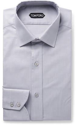 Tom Ford Grey Slim-Fit Puppytooth Cotton Shirt