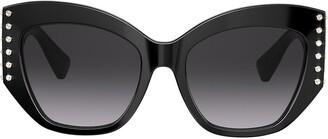 Valentino Eyewear embellished frames black cat eye sunglasses