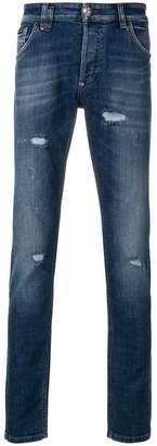 Philipp Plein skinny ripped jeans