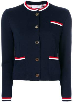Thom Browne stripe trim cardigan