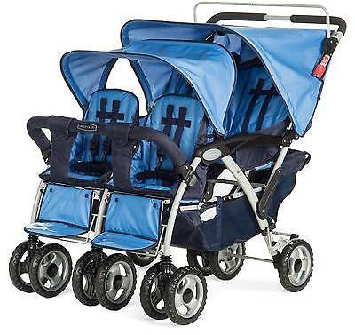 Child Craft Childcraft Child Craft 4 Passenger Stroller - Blue