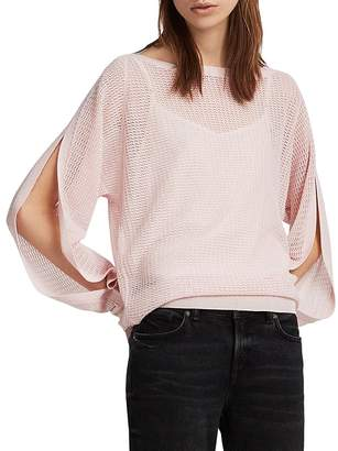 AllSaints Elle Slit-Sleeve Sweater