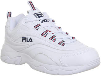 Fila Ray Trainers White Navy Red