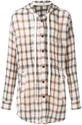 Faith Connexion hooded flannel shirt