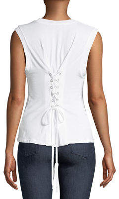 KENDALL + KYLIE Bustier Lace-Back Tank