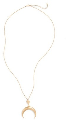 Junior Women's Girly Crescent Pendant Necklace $19 thestylecure.com