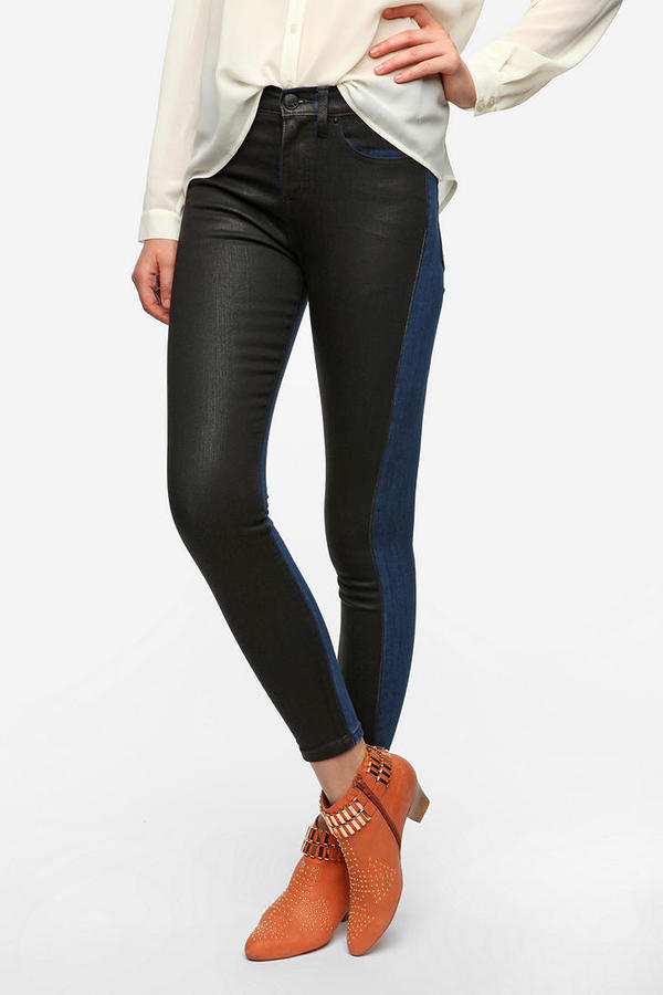 BDG High-Rise Two-Tone Coated Jean
