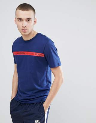 Nike Archive Taping T-Shirts In Navy 943054-429