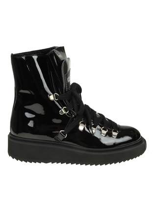 Kenzo alaska Ankle Boot In Black Paint