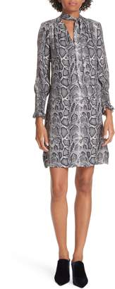 Rebecca Taylor Snake Print Shift Dress