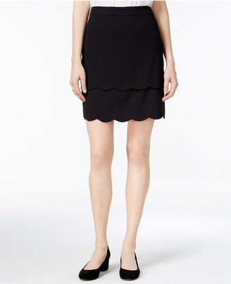 Maison Jules Tiered Scallop-Hem Skirt, Only at Macy's $59.50 thestylecure.com