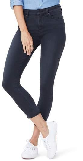 Ami Side Slit Fringe Hem Skinny Jeans
