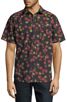 Obey Felix Floral Cotton Sport Shirt