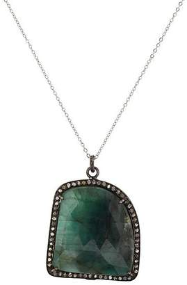 Feathered Soul Women's Emerald & Sterling Silver Pendant Necklace - Gold