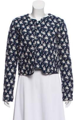 Rebecca Minkoff Quilted Floral Print Jacket