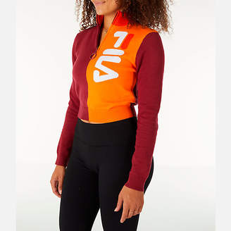 Fila Women's Fabiana 1/4 Zip Crop Sweater