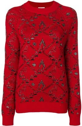 Saint Laurent motif knit jacquard jumper