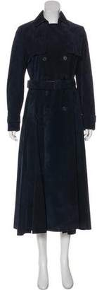 Christian Dior Double-Breasted Suede Coat
