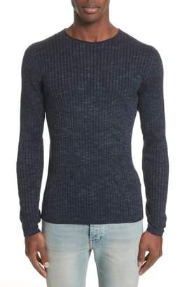 John Varvatos Collection Melange Stripe Sweater